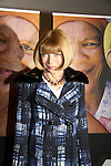Anna Wintour in support of the launch of the Global Poverty Project's 1.4 Billion Reasons DVD on October 20. 2010 at New York City's Museum of Modern Art, NYC, NY. (Photo by Sue Coflin/Max Photos)