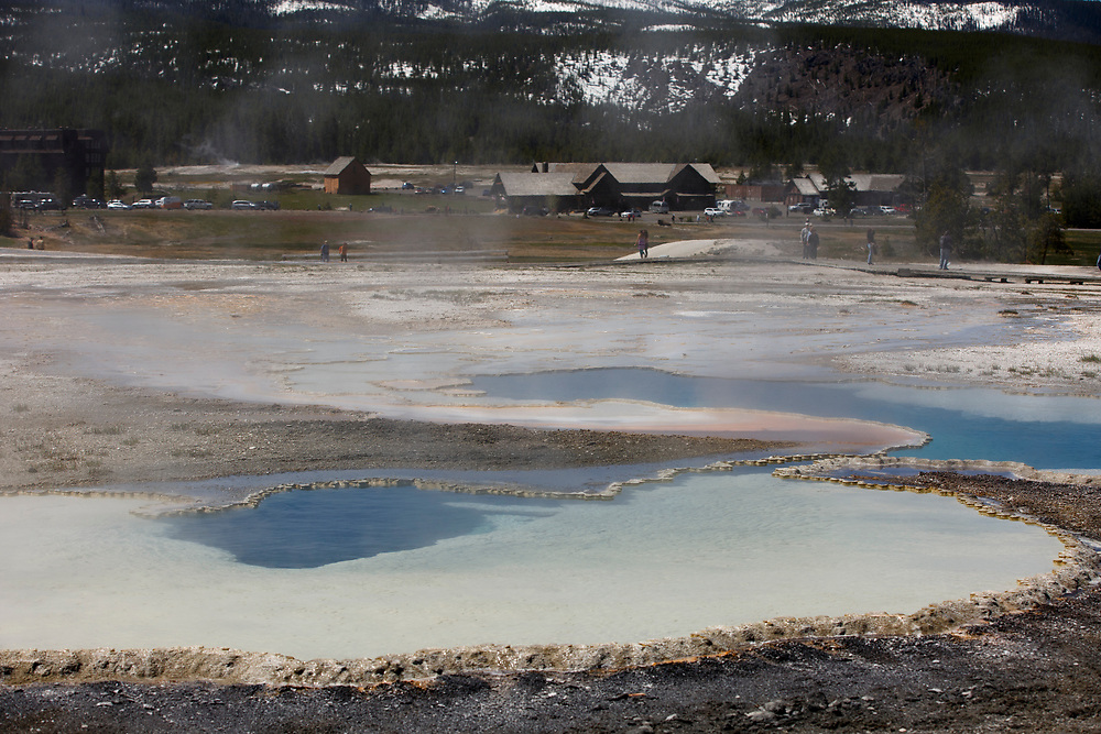 A geothermal feature is pictured in the Upper Geyser Basin in Yellowstone National Park, Wyoming on Tuesday, May 23, 2017. (Photo by James Brosher)