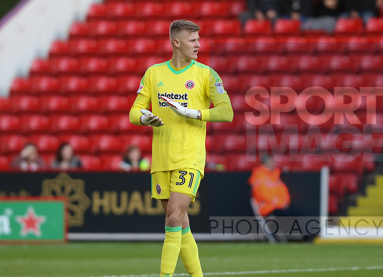 Jake Eastwood of Sheffield Utd during the Carabao Cup round One match at Bramall Lane Stadium, Sheffield. Picture date 9th August 2017. Picture credit should read: Jamie Tyerman/Sportimage