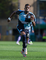 New signing Gozie Ugwu of Wycombe Wanderers in action during the Sky Bet League 2 match between Wycombe Wanderers and Plymouth Argyle at Adams Park, High Wycombe, England on 12 September 2015. Photo by Andy Rowland.