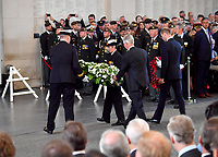 30 July 2017 - Ypres, Belgium - Last Post ceremony at the Menin Gate to mark the centenary of Passchendaele, The Third Battle of Ypres. Photo Credit: Alpha Press/AdMedia