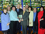 Tommy Reilly, Seamus McArdle, Phil O'Sullivan, Thomas Hoey and Sheila Scott, residents from Dromiskin who recieved a merit award in the Tidy Estates, Districts Competition. Also in picture are Mary Murtagh, Enviromental Officer, Seamus Kirk T.D., Minister Dan wallace T.D. and Peter Savage, Chairman Louth County Council..Picture Paul Mohan Newsfile