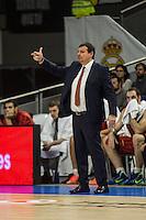 Galatasaray´s coach Ergin Atamanduring 2014-15 Euroleague Basketball match between Real Madrid and Galatasaray at Palacio de los Deportes stadium in Madrid, Spain. January 08, 2015. (ALTERPHOTOS/Luis Fernandez) /NortePhoto /NortePhoto.com
