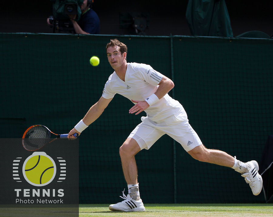 ANDY MURRAY (GBR)<br /> <br /> The Championships Wimbledon 2014 - The All England Lawn Tennis Club -  London - UK -  ATP - ITF - WTA-2014  - Grand Slam - Great Britain -  2nd July 2014. <br /> <br /> © Tennis Photo Network
