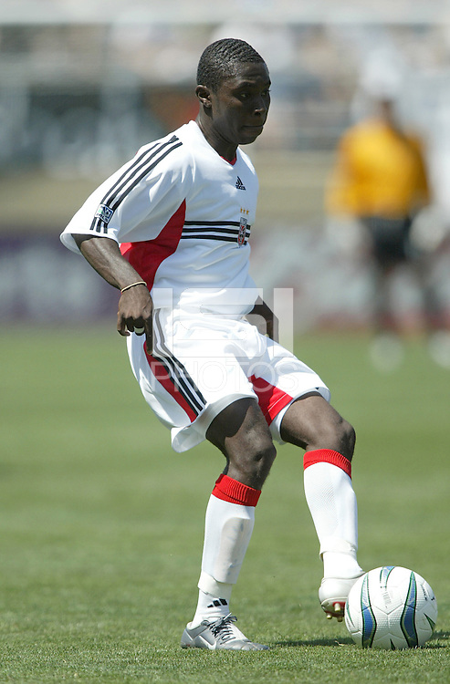 Freddie Adu in action during an MLS match between the San Jose Earthquakes and DC United on May 1, 2004 at Spartan Stadium in San Jose, California.