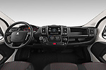 Stock photo of straight dashboard view of 2019 Peugeot Boxer PRO-SR 4 Door Chassis Cab Dashboard