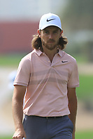 Tommy Fleetwood (ENG) on the 2nd during Round 2 of the Omega Dubai Desert Classic, Emirates Golf Club, Dubai,  United Arab Emirates. 25/01/2019<br /> Picture: Golffile | Thos Caffrey<br /> <br /> <br /> All photo usage must carry mandatory copyright credit (© Golffile | Thos Caffrey)