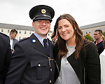 10/09/2015<br /> Garda Robin Grace from Doolin, Co. Clare pictured with his wife Hannah at the Garda Graduation Ceremony at the Garda College, Templemore, Co. Tipperary.<br /> Pic: Press 22