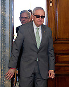 United States Senate Democratic Leader Harry Reid (Democrat of Nevada), right, leads Judge Merrick Garland, chief justice for the US Court of Appeals for the District of Columbia Circuit, who is US President Barack Obama's selection to replace the late Associate Justice Antonin Scalia on the US Supreme Court, left, to a photo op on Capitol Hill in Washington, DC on Thursday, March 17, 2016.   <br /> Credit: Ron Sachs / CNP