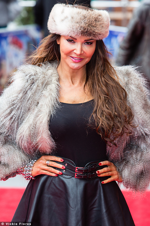 Lizzie Cundy attends the UK Premiere of The Lego Movie at the Vue West End in Leicester Square, London on February 9th, 2014.