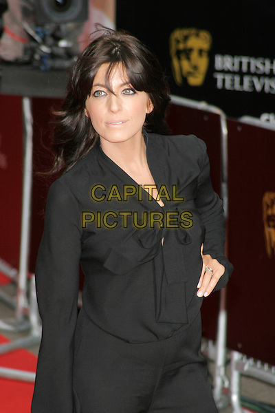 CLAUDIA WINKLEMAN.Red Carpet Arrivals for the British Academy Television Awards 2008, held at the London Palladium, London, England, .April 20th 2008. .BAFTA BAFTA's half length black top bow.CAP/AH.©Adam Houghton/Capital Pictures.