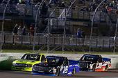 #16: Brett Moffitt, Hattori Racing Enterprises, Toyota Tundra AISIN Group #18: Noah Gragson, Kyle Busch Motorsports, Toyota Tundra Safelite AutoGlass #88: Matt Crafton, ThorSport Racing, Ford F-150 Ideal Door/Menards