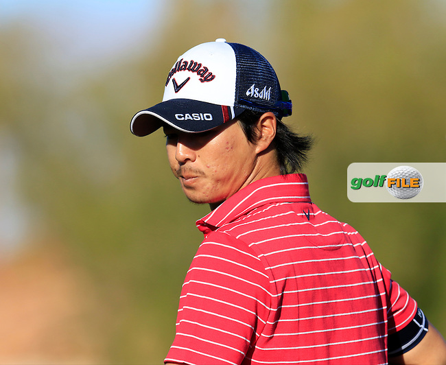 Ryo Ishikawa (JPN) on 16th green during Saturday's Round 3 of the 2017 CareerBuilder Challenge held at PGA West, La Quinta, Palm Springs, California, USA.<br /> 21st January 2017.<br /> Picture: Eoin Clarke | Golffile<br /> <br /> <br /> All photos usage must carry mandatory copyright credit (&copy; Golffile | Eoin Clarke)