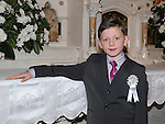 Caolán Nulty from Congress Avenue school who received first holy communion in St Mary's church. Photo: Colin Bell/pressphotos.ie