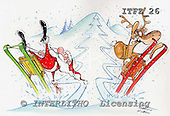 Fabrizio, Comics, CHRISTMAS SANTA, SNOWMAN, paintings, ITFZ26,#x# stickers Weihnachten, Navidad, illustrations, pinturas