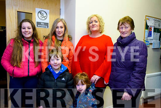 Showing their support for the retention of Glencar Post Office at the meeting in Glencar Community Centre on Friday night.<br /> Back L-R Leona Clifford, Michaela Clifford, Catherine O'Connor &amp; Eileen O'Shea.<br /> Front L-R Darryl Clifford &amp; Ryan O'Connor.