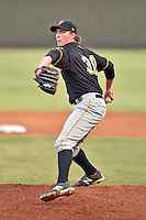 Bristol Pirates starting pitcher Gage Hinsz (30) delivers a pitch during a game against the Elizabethton Twins on September 1, 2015 in Elizabethton, Tennessee. The Twins defeated the Pirates Gnats 6-1. (Tony Farlow/Four Seam Images)