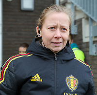 20200226 Kalmthout, BELGIUM :Belgian official Lois Otte before the international friendly soccer match between the national youth Women Under 17 teams of Belgium and the Netherlands, a friendly game in preparation for the UEFA Elite rounds in March in Belgium for the Belgian team, Wednesday 26th of February 2020 at Sportpark Heikant in Kalmthout, BELGIUM. PHOTO: SPORTPIX.BE | Sevil Oktem