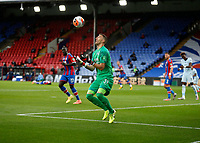 7th July 2020; Selhurst Park, London, England; English Premier League Football, Crystal Palace versus Chelsea; Goalkeeper Vicente Guaita of Crystal Palace catching the loose ball