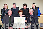Bishop of Kerry Ray Browne presents the Duggan family, Kilcummin a Certificate to recognise the decades of loyal service to Our Lady of Lourdes Church Kilcummin on Saturday night front row l-r: Fr, Hannah McCarthy, Bishop Ray Browne. Back row: Mary O'Connor, Denis Duggan, Andrew Duggan and Brendan Duggan