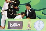(L to R) Yuki Hashimoto (JPN),  Takeshi Ogawa (JPN), .April 21, 2013 - Judo : .Asian Judo Championships 2013, Women's Team Competition Final .at Bangkok Youth Centre, Bangkok, Thailand. .(Photo by Daiju Kitamura/AFLO SPORT) [1045]