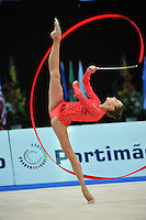 Viktoria Shynkarenko of Ukraine performs at 2011 World Cup at Portimao, Portugal on April 30, 2011.  .