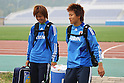 (L to R) Asuna Tanaka (JPN), Ayumi Kaihori (JPN), September 9, 2011 - Football / Soccer : Women's Asian Football Qualifiers Final Round for London Olympic, Japan National Team Training at Jinan Olympic Sports Center Training Ground, Jinan, China. (Photo by Daiju Kitamura/AFLO SPORT) [1045]