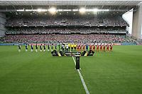 BELO HORIONTE, MG, 12.02.2019: ATLETICO(MG) X DANUBIO(URU)-Atletico recebe Danubio com casa cheia durante partida entre Atletico (MG) x Danubio (URU),  válida pelo jogo de volta da fase classificatoria para a Copa Libertadores 2018,  no Estadio Independencia em Belo Horizonte, MG, na noite desta terça feira (12) (foto Giazi Cavalcante/Codigo19)