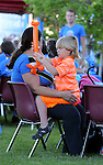 Chase Sulezich, 6, who has autism, plays with a balloon during the Journey of Hope event at Western Nevada College in Carson City, Nev., on Friday, June 12, 2015. Nearly 30 cyclist rode into town Friday as part of the Pi Kappa Phi fraternity&rsquo;s cross-country ride to bring awareness and support to people with disabilities.<br /> Photo by Cathleen Allison/Nevada Photo Source
