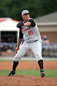 July 14th 2008:  Pitcher Brandon Cooney of the Aberdeen Ironbirds, Class-A affiliate of the Baltimore Orioles, during a game at Dwyer Stadium in Batavia, NY.  Photo by:  Mike Janes/Four Seam Images