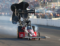 Sep 24, 2016; Madison, IL, USA; NHRA top fuel driver Kyle Wurtzel during qualifying for the Midwest Nationals at Gateway Motorsports Park. Mandatory Credit: Mark J. Rebilas-USA TODAY Sports