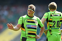 Dylan Hartley of Northampton Saints. Aviva Premiership match, between Saracens and Northampton Saints on September 2, 2017 at Twickenham Stadium in London, England. Photo by: Patrick Khachfe / JMP