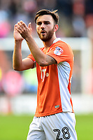 Blackpool's Jack Payne applauds the fans at the end of the match<br /> <br /> Photographer Richard Martin-Roberts/CameraSport<br /> <br /> The EFL Sky Bet League Two Play-Off Semi Final First Leg - Blackpool v Luton Town - Sunday May 14th 2017 - Bloomfield Road - Blackpool<br /> <br /> World Copyright &copy; 2017 CameraSport. All rights reserved. 43 Linden Ave. Countesthorpe. Leicester. England. LE8 5PG - Tel: +44 (0) 116 277 4147 - admin@camerasport.com - www.camerasport.com