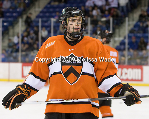Kevin Lohry (Princeton - 12) - The Princeton University Tigers defeated the University of Massachusetts-Lowell River Hawks 3-2 on Saturday, December 12, 2009, at Tsongas Arena in Lowell, Massachusetts.