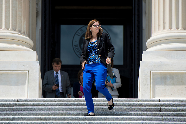 UNITED STATES - JUNE 28: Rep. Martha McSally, R-Ariz., walks down the House steps after the last votes before the July 4th recess on Thursday, June 28, 2018. (Photo By Bill Clark/CQ Roll Call)