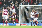 12th September 2017, Villa Park, Birmingham, England; EFL Championship football, Aston Villa versus Middlesbrough; Mile Jedinak of Aston Villa gets a header towards goal