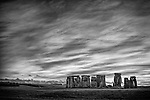 Ancient Stonehenge in Wiltshire in England