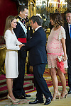 First official act of the Kings Felipe VI and Letizia Ortiz, waving at Alejandro Sanz. Royal Palace. Madrid. 06/19/2014. Samuel Roman/Photocall3000