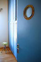 painted blue closets