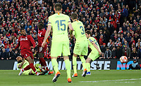 Liverpool's Georginio Wijnaldum scores his side's second goal <br /> <br /> Photographer Rich Linley/CameraSport<br /> <br /> UEFA Champions League Semi-Final 2nd Leg - Liverpool v Barcelona - Tuesday May 7th 2019 - Anfield - Liverpool<br />  <br /> World Copyright © 2018 CameraSport. All rights reserved. 43 Linden Ave. Countesthorpe. Leicester. England. LE8 5PG - Tel: +44 (0) 116 277 4147 - admin@camerasport.com - www.camerasport.com