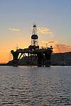 Oil rig repair in harbour city of Almeria, Spain