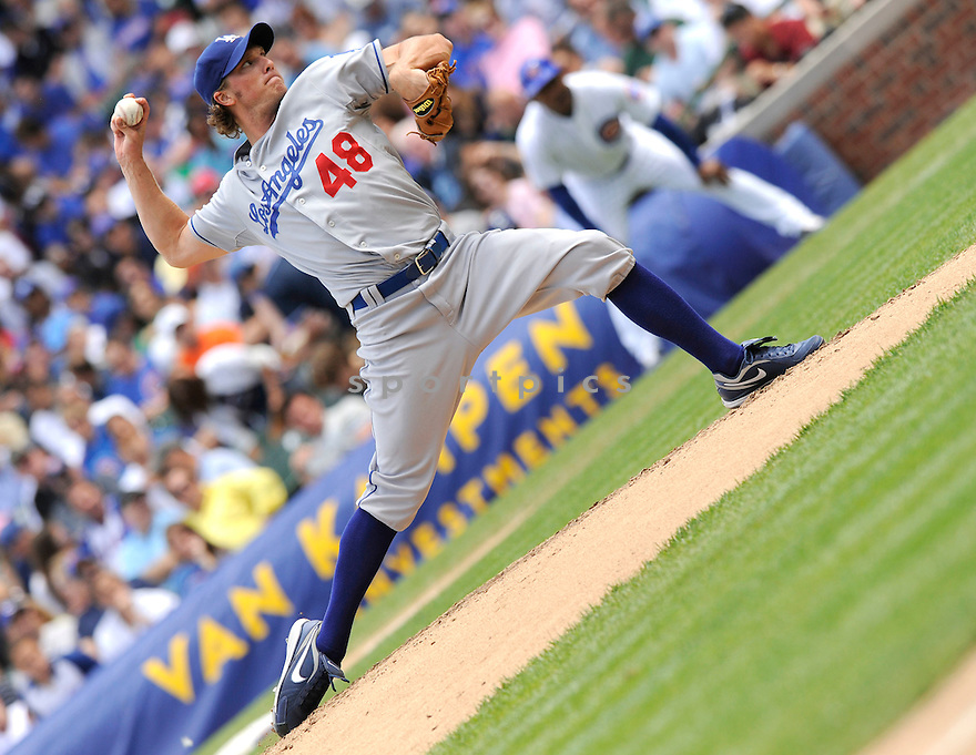 RUSSEL MARTIN, of the Los Angeles Dodgers ,in action during the Dodgers game against the Chicago Cubs at Wrigley Field in Chicago, IL on May 27, 2010.  ..The Cubs won the game 1-0...