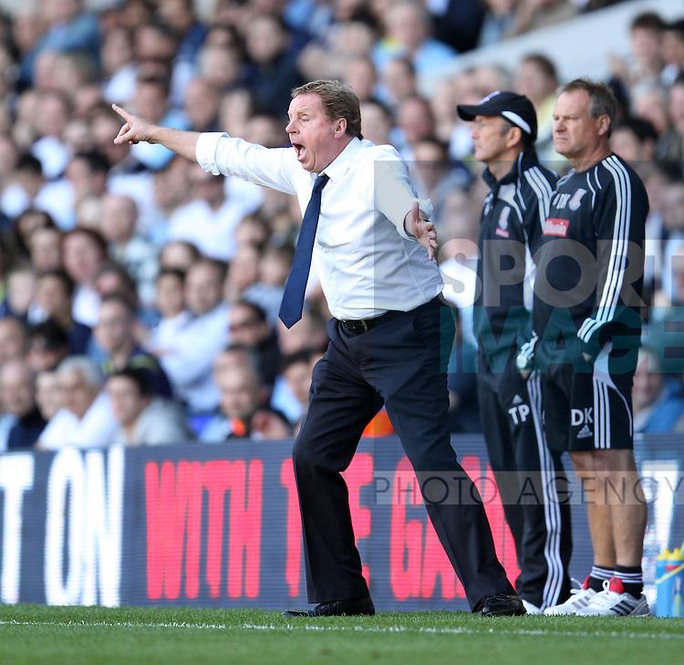Tottenhams Harry Redknapp in action