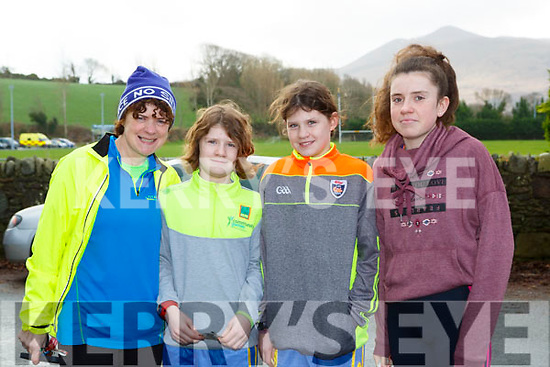 Julie, Bronagh, Niamh and Saoirse Dorrian Beaufort who competed  in the Beaufort 10k on New Years Day