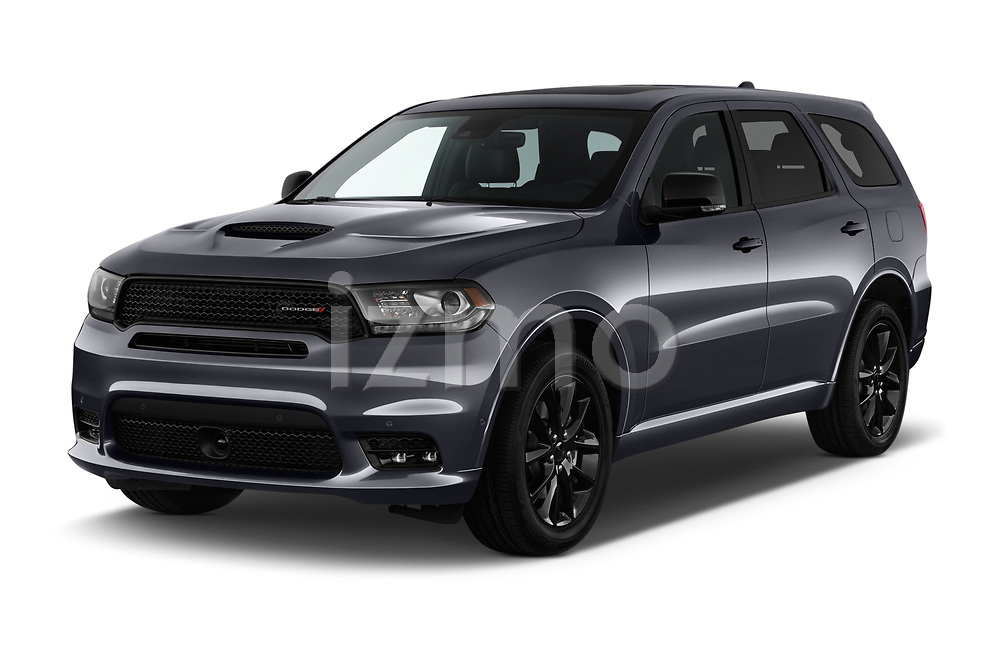 2018 Dodge Durango R/T 5 Door SUV angular front stock photos of front three quarter view