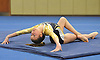 Jaime Hirtzel of Bethpage concludes her floor routine during a Nassau County varsity gymnastics meet against Massapequa at Jamaica Avenue School in Plainview on Wednesday, Dec. 21, 2016.