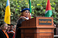 Conferring of Honorary Degree and Response - Lula Bailey Ballton, CEO Emeritus, West Angeles Community Development Corporation.<br /> Families, friends, faculty, staff and distinguished guests celebrate the class of 2019 during Occidental College's 137th Commencement ceremony on Sunday, May 19, 2019 in the Remsen Bird Hillside Theater.<br /> (Photo by Marc Campos, Occidental College Photographer)