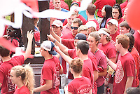NWA Democrat-Gazette/J.T. WAMPLER Freshmen at the University of Arkansas attend a welcome party August 23, 2015.