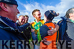 Sean Dowling of Kilmoyley celebrating their win with team manager Fergie O Loughlin at the Gaelic Grounds, Limerick<br /> <br /> Photo: Oisin McHugh True Media