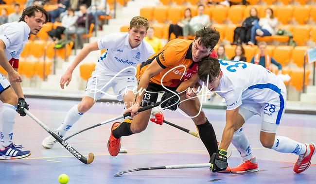 ROTTERDAM  - NK Zaalhockey,   wedstrijd om brons.  heren Oranje Rood- Kampong. OR wint.   Benjamin Stanzl (Oranje-Rood)     COPYRIGHT KOEN SUYK